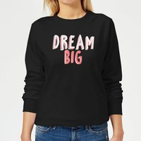 Dream Big Pink Women's Sweatshirt - Black - M - Black from Candlelight