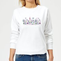 Flower Meadow Women's Sweatshirt - White - S - White from Candlelight