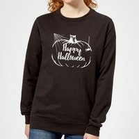 Happy Halloween Pumpkin Women's Sweatshirt - Black - XS - Black from Candlelight