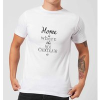 Hot Choc Men's T-Shirt - White - L - White from Candlelight