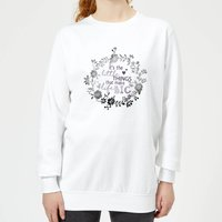 It's The Little Things That Make Life Big Women's Sweatshirt - White - L - White from Candlelight