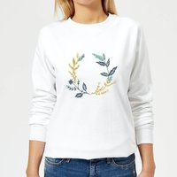 Leafy Reef Women's Sweatshirt - White - XS - White from Candlelight