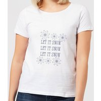 Let it Snow Women's T-Shirt - White - XL - White from Candlelight