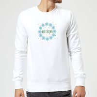 Merry Christmas flakes Sweatshirt - White - L - White from Candlelight