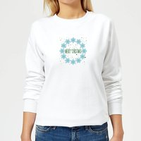 Merry Christmas flakes Women's Sweatshirt - White - XS - White from Candlelight