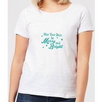 Merry Days Women's T-Shirt - White - S - White from Candlelight