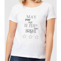 Merry Days Women's T-Shirt - White - XL - White from Candlelight