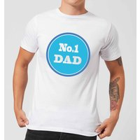 No. 1 Dad Men's T-Shirt - White - 4XL - White from Candlelight
