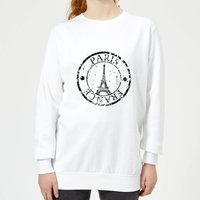 Paris France Women's Sweatshirt - White - XL - White from Candlelight