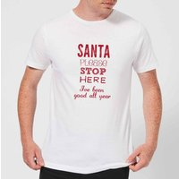 Please santa Men's T-Shirt - White - 4XL - White from Candlelight