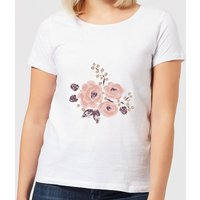 Roses & Grapes Women's T-Shirt - White - XXL - White from Candlelight