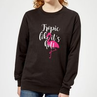 Tropic Like It's Hot Women's Sweatshirt - Black - L - Black from Candlelight