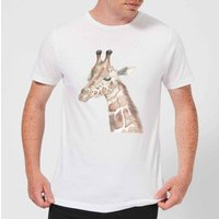 Watercolour Giraffe Men's T-Shirt - White - 4XL - White from Candlelight