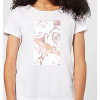 White Rose Print Women's T-Shirt - White - M - White from Candlelight