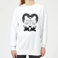 You Have A Heart Of Gold Women's Sweatshirt - White - L - White from Candlelight
