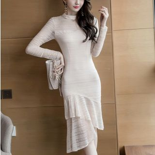 Long-Sleeve Sheath Lace Dress from Cassidy