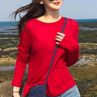 Plain Long-Sleeve T-Shirt from Cassidy
