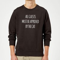 All Guests Must Be Approved By The Cat Sweatshirt - Black - XL - Black from The Pet Collection