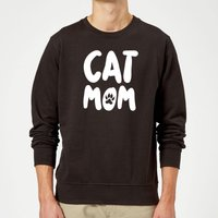 Cat Mom Sweatshirt - Black - M - Black from The Pet Collection