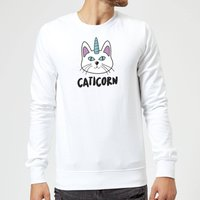 Caticorn Sweatshirt - White - XXL - White from The Pet Collection