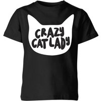 Crazy Cat Lady Kids' T-Shirt - Black - 7-8 Years - Black from The Pet Collection