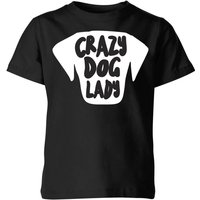 Crazy Dog Lady Kids' T-Shirt - Black - 7-8 Years - Black from The Pet Collection