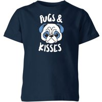 My Little Rascal Pugs & Kisses Kids' T-Shirt - Navy - 9-10 Years - Navy from My Little Rascal