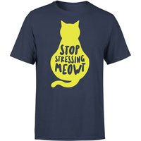 Stop Stressing Meowt T-Shirt - Navy - XXL - Navy from The Pet Collection