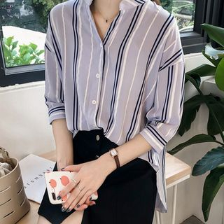 3/4-Sleeve Striped Shirt from Champi