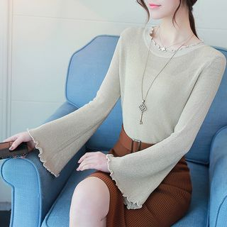Bell-Sleeve Knit Top from Champi