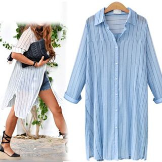 Pinstriped Long Shirt from Champi