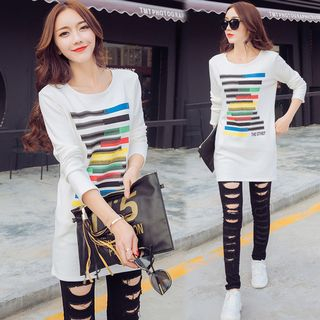 Striped Long Pullover from Champi
