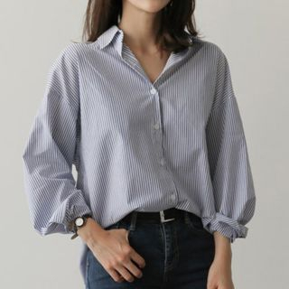 Striped Long-Sleeve Shirt from Champi