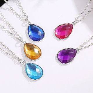 Alloy Acrylic Droplet Pendant Necklace from Cheermo