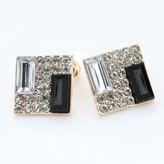 Crystal Rhinestone Square Earrings from Cheermo