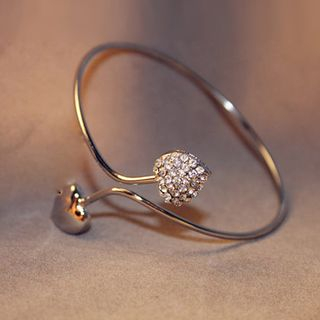 Heart Open Bangle from Cheermo