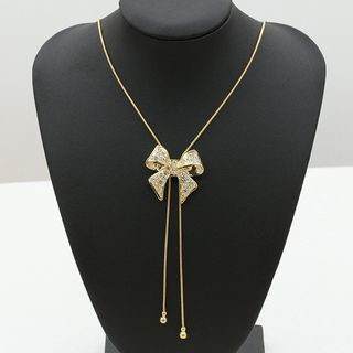 Rhinestone Bow Y Necklace from Cheermo