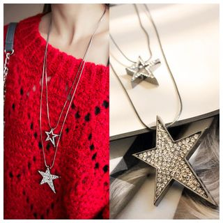 Rhinestone Star Necklace from Cheermo