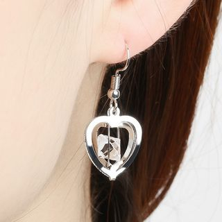 Rhinestone in Cage Earring from Cheermo