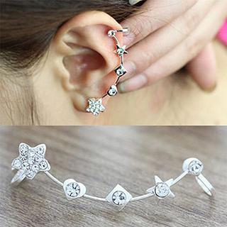 Star Rhinestone Clip-on Earrings from Cheermo