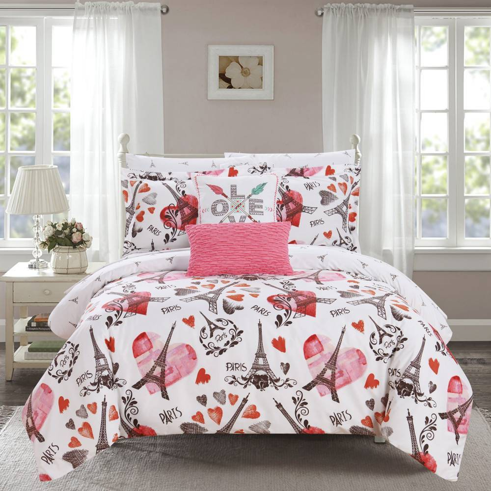 Chic Home Design Queen 9pc Marais Bed In A Bag Comforter Set Pink from Chic Home Design