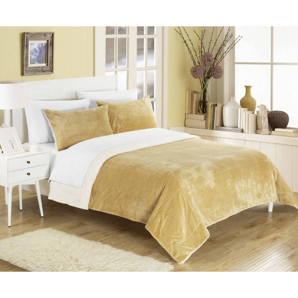 Chic Home King 3pc Ernest Blanket Set Camel from Chic Home Design