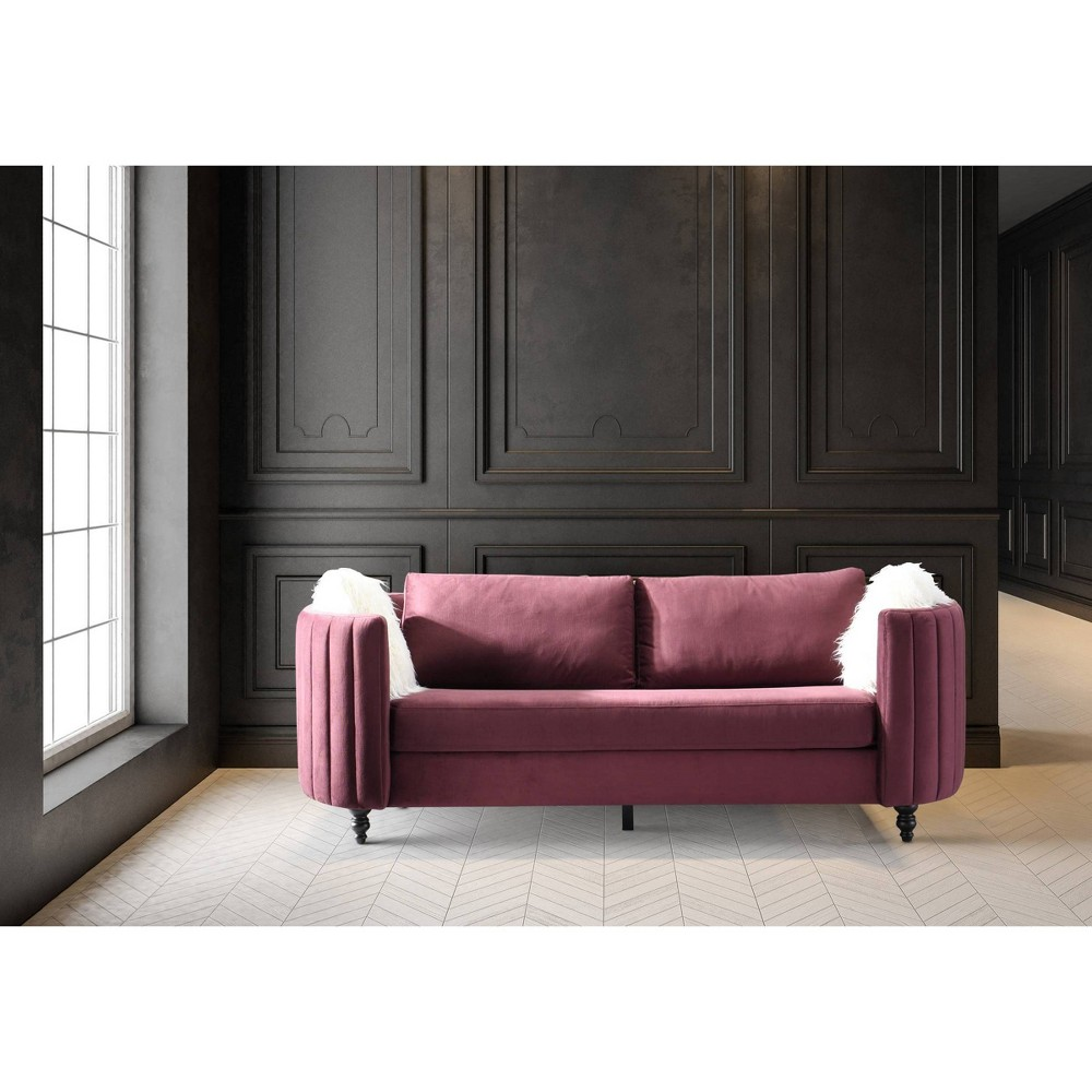 Guadalupe Sofa Purple - Chic Home Design from Chic Home Design