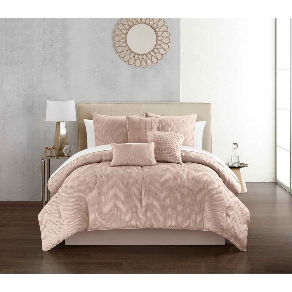 King 10pc Holly Bed In a Bag Comforter Set Rose - Chic Home Design from Chic Home Design