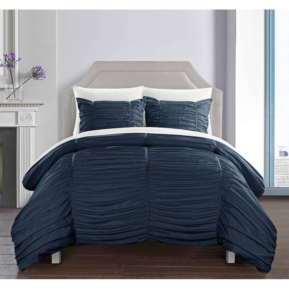 King 3pc Aurora Comforter Set Navy - Chic Home Design from Chic Home Design