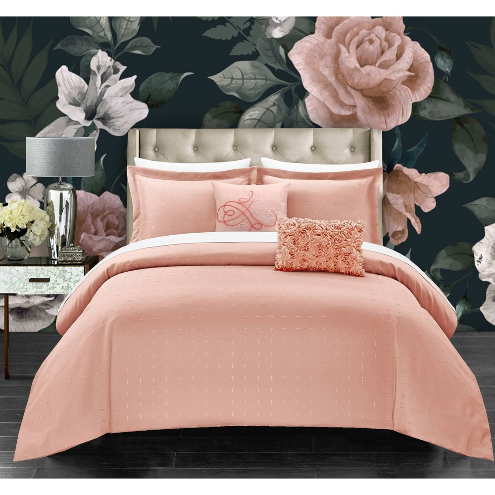 King 5pc Ellie Comforter Set Blush - Chic Home Design from Chic Home Design