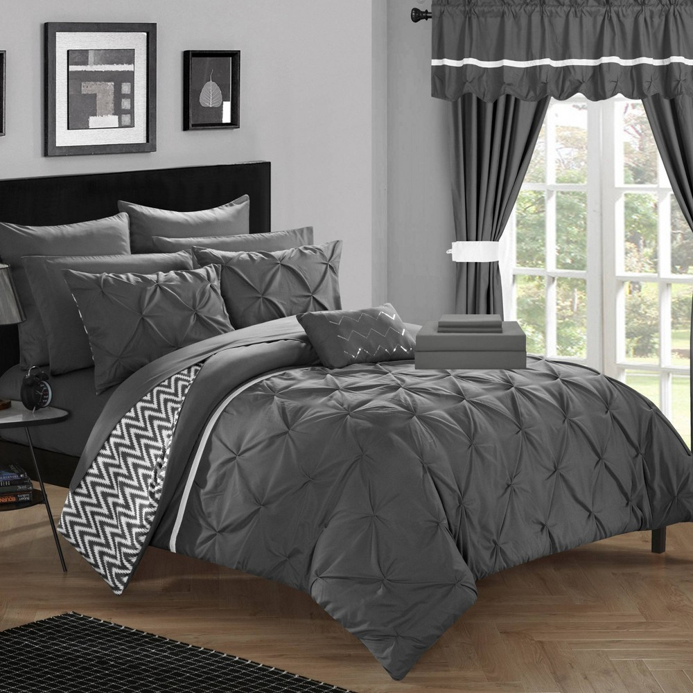 Queen 20pc Potterville Bed In A Bag Comforter Set Gray - Chic Home Design from Chic Home Design