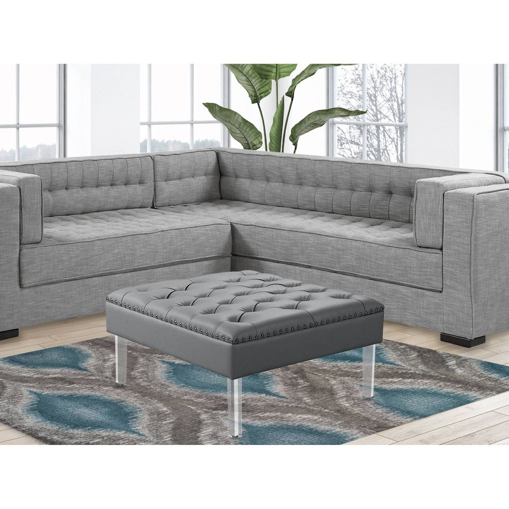 Remi Ottoman Silver - Chic Home Design from Chic Home Design