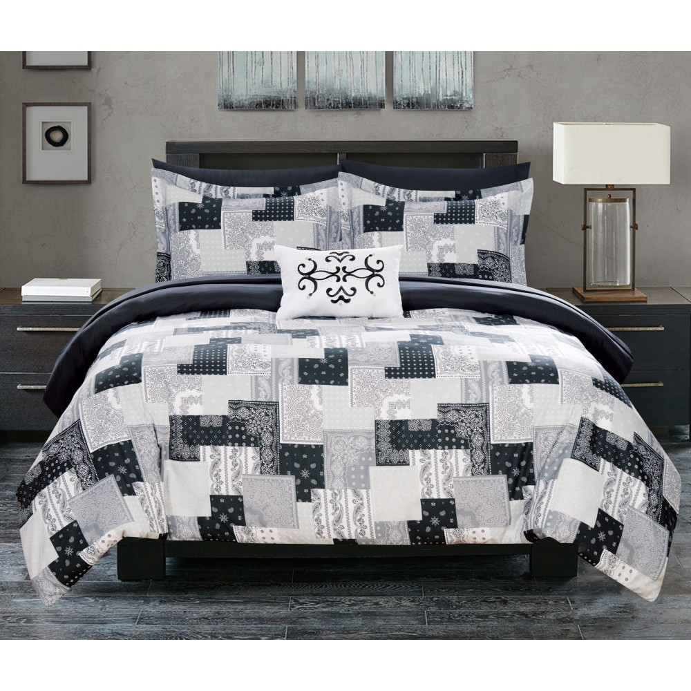 Twin 6pc Viy Bed In A Bag Comforter Set Black - Chic Home from Chic Home Design