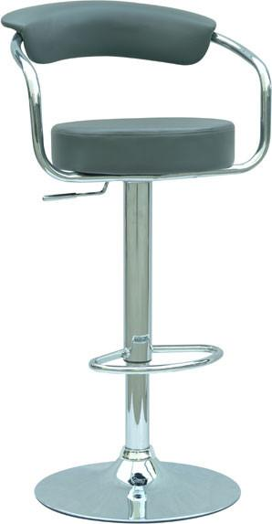 "Chintaly 0326-AS-GRY Pneumatic Gas Lift Adjustable Height Swivel Stool - 25"" - 33"" from Chintaly"